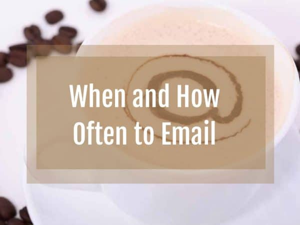 email, best time to email, email frequency, autoresponder, mailing list, email best practices