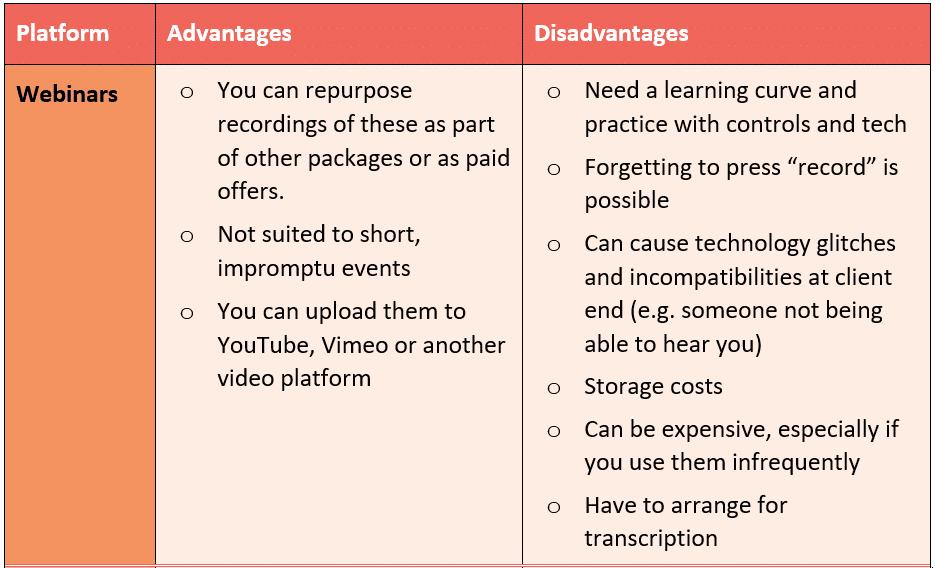 Scale Business webinars advantages