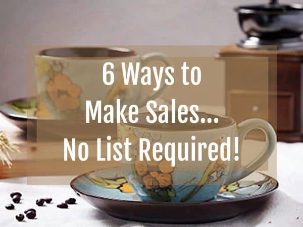 make sales, no list, small list, email list, selling online products